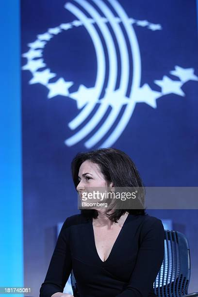 Sheryl Sandberg chief operating officer of Facebook Inc listens during the annual meeting of the Clinton Global Initiative in New York US on Tuesday...