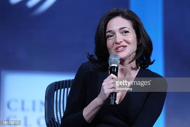 Sheryl Sandberg chief operating officer of Facebook Inc speaks during the annual meeting of the Clinton Global Initiative in New York US on Tuesday...