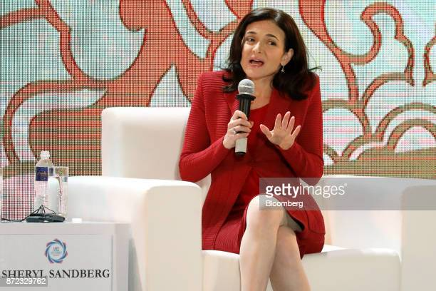 Sheryl Sandberg chief operating officer of Facebook Inc speaks during the AsiaPacific Economic Cooperation CEO Summit in Danang Vietnam on Friday Nov...