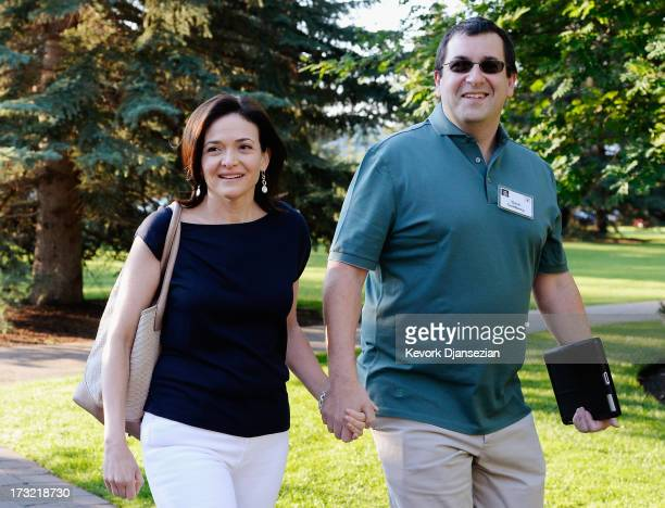 Sheryl Sandberg COO of Facebook and her husband David Goldberg arrive for morning session of the Allen Co annual conference at the Sun Valley Resort...
