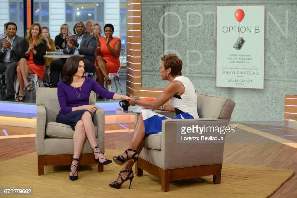 AMERICA Sheryl Sandberg is a guest on 'Good Morning America' Monday April 24 2017 airing on the ABC Television Network SHERYL
