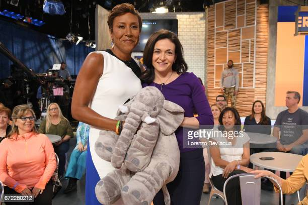 AMERICA Sheryl Sandberg is a guest on 'Good Morning America' Monday April 24 2017 airing on the ABC Television Network ROBIN