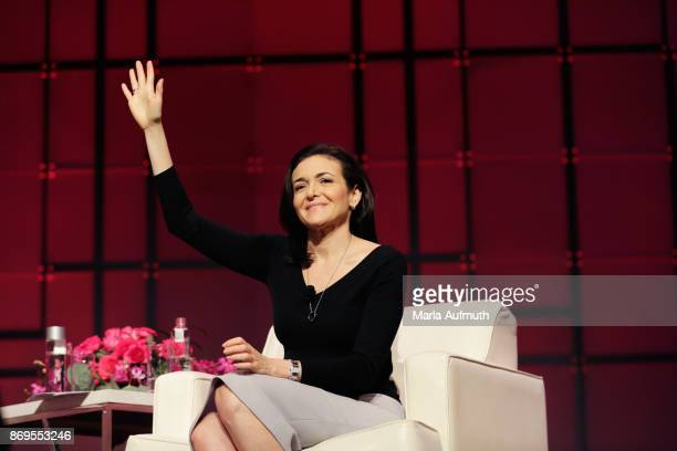 Sheryl Sandberg speaks at the Texas Conference For Women 2017 at Austin Convention Center on November 2 2017 in Austin Texas