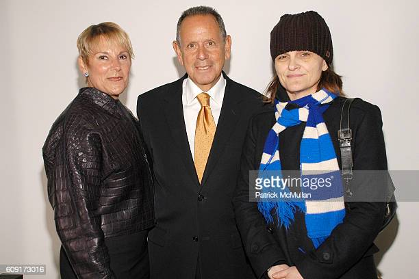 Sheryl Schwartz Barry Schwartz and Cathy Horyn attend CALVIN KLEIN COLLECTION Fall 2007 Fashion Show at Calvin Klein Inc on February 8 2007 in New...