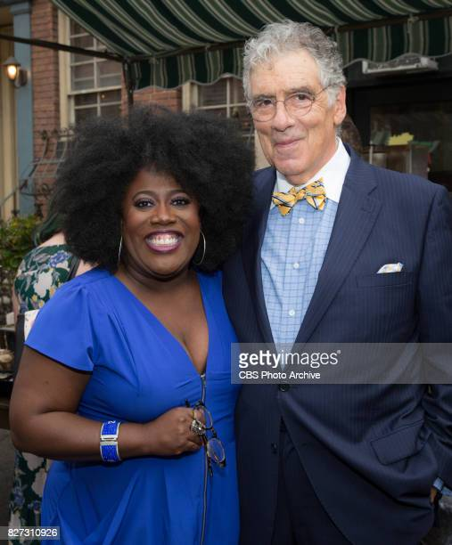 Sheryl Underwood and Elliott Gould pose for a photograph at the CBS Summer soirée for the annual TCA press tour held on August 1 2017 in Los Angeles...