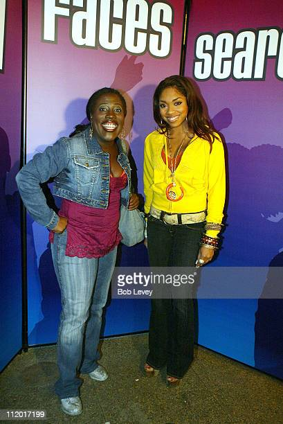 Sheryl Underwood host of BET's Comic View and RB singer Brooke Valentine at the BET New Faces Talent Search at The Mercury Room October 7 2005 in...