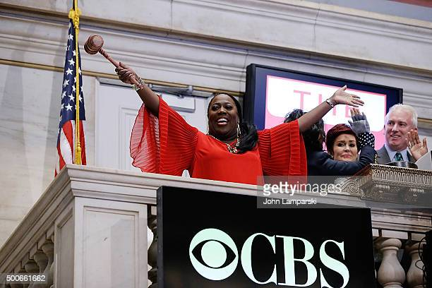 Sheryl Underwood of CBS' The Talk rings the closing bell at the New York Stock Exchange on December 9 2015 in New York City