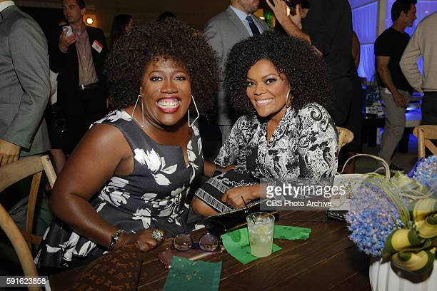 Sheryl Underwood of THE TALK and Yvette Nicole Brown of THE ODD COUPLE pose for a photograph at the CBS The CW Showtime and CBS Television...