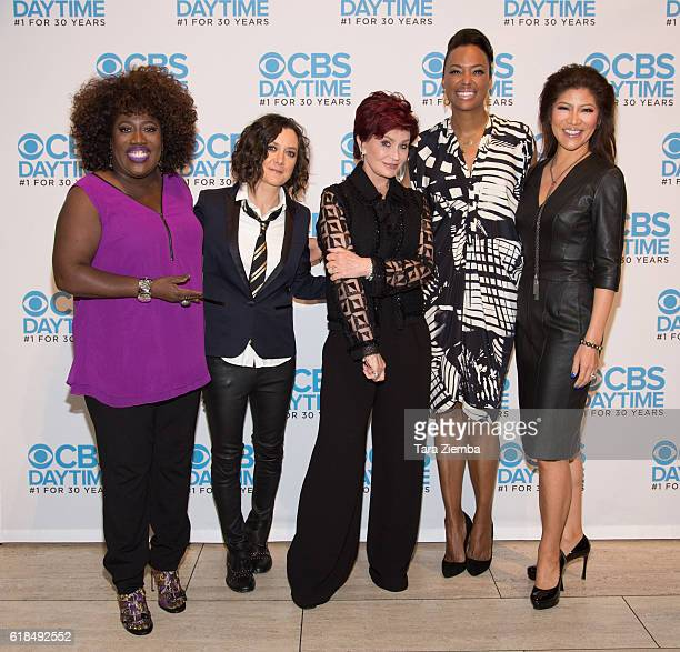 Sheryl Underwood Sara Gilbert Chelsea Clinton Sharon Osbourne Aisha Tyler and Julie Chen attend CBS Daytime Presents 'The Talk' panel at The Paley...