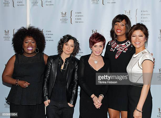 Sheryl Underwood Sara Gilbert Sharon Osbourne Aisha Tyler and Julie Chen attend the Jewish Family Service of Los Angeles 23rd Annual Gala Dinner at...