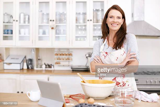 She's a confident baker