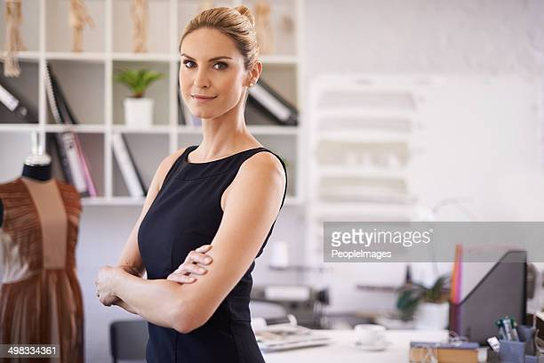 She's a confident businesswoman