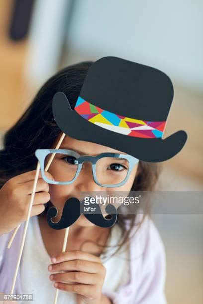 彼女は変装でかわいこちゃん - 小道具 ストックフォトと画像