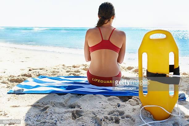 She's a dedicated lifeguard