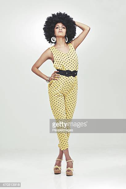she's a disco diva - african american 70s fashion stock photos and pictures