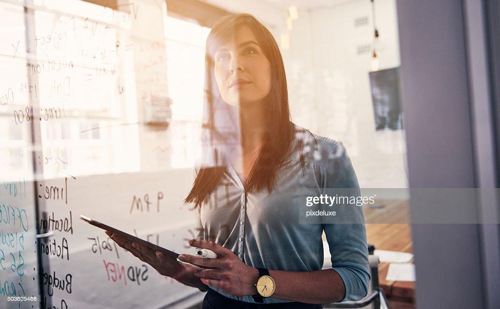 She's a forward thinking professional : Stock Photo