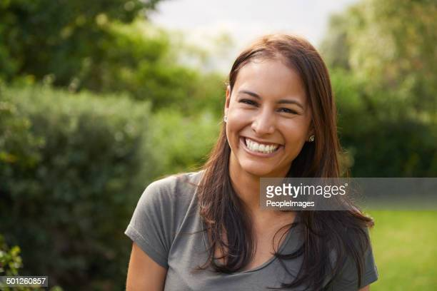 she's a happy camper - brown hair stock pictures, royalty-free photos & images