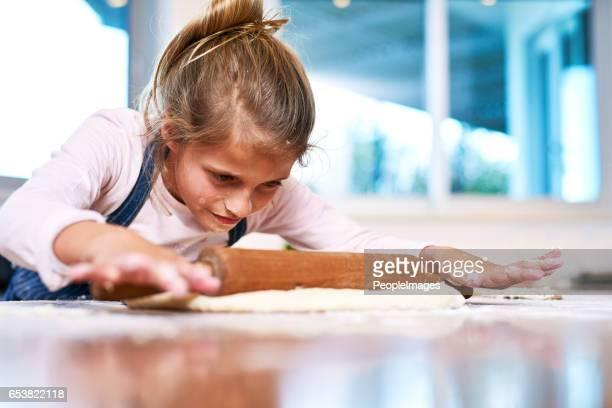 Sie ist eine kleine Bäckerei in der Herstellung