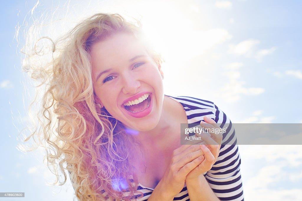 She's a ray of sunshine : Stock Photo