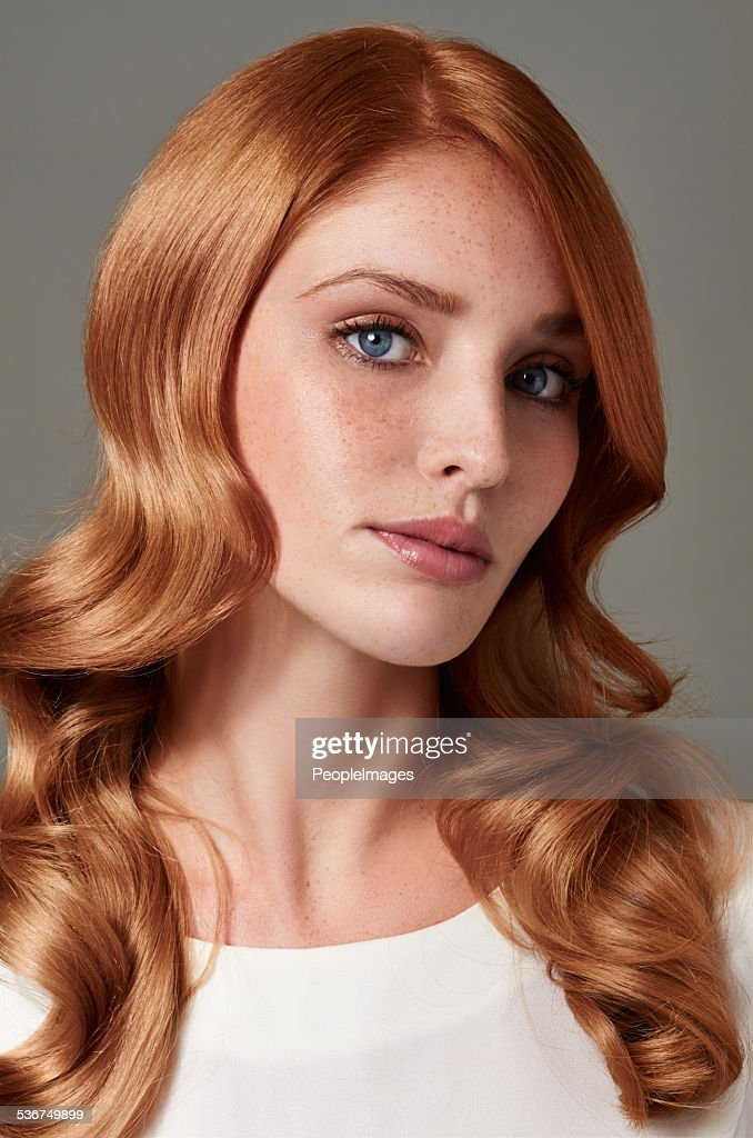 Shes A Red Hot Redhead Stock Photo
