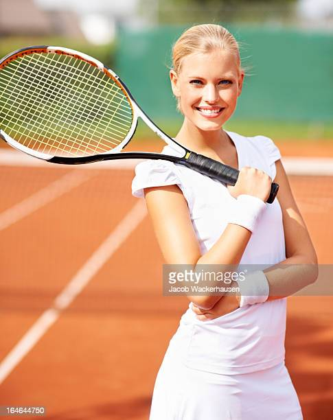 she's a rising tennis star - women tennis stock photos and pictures