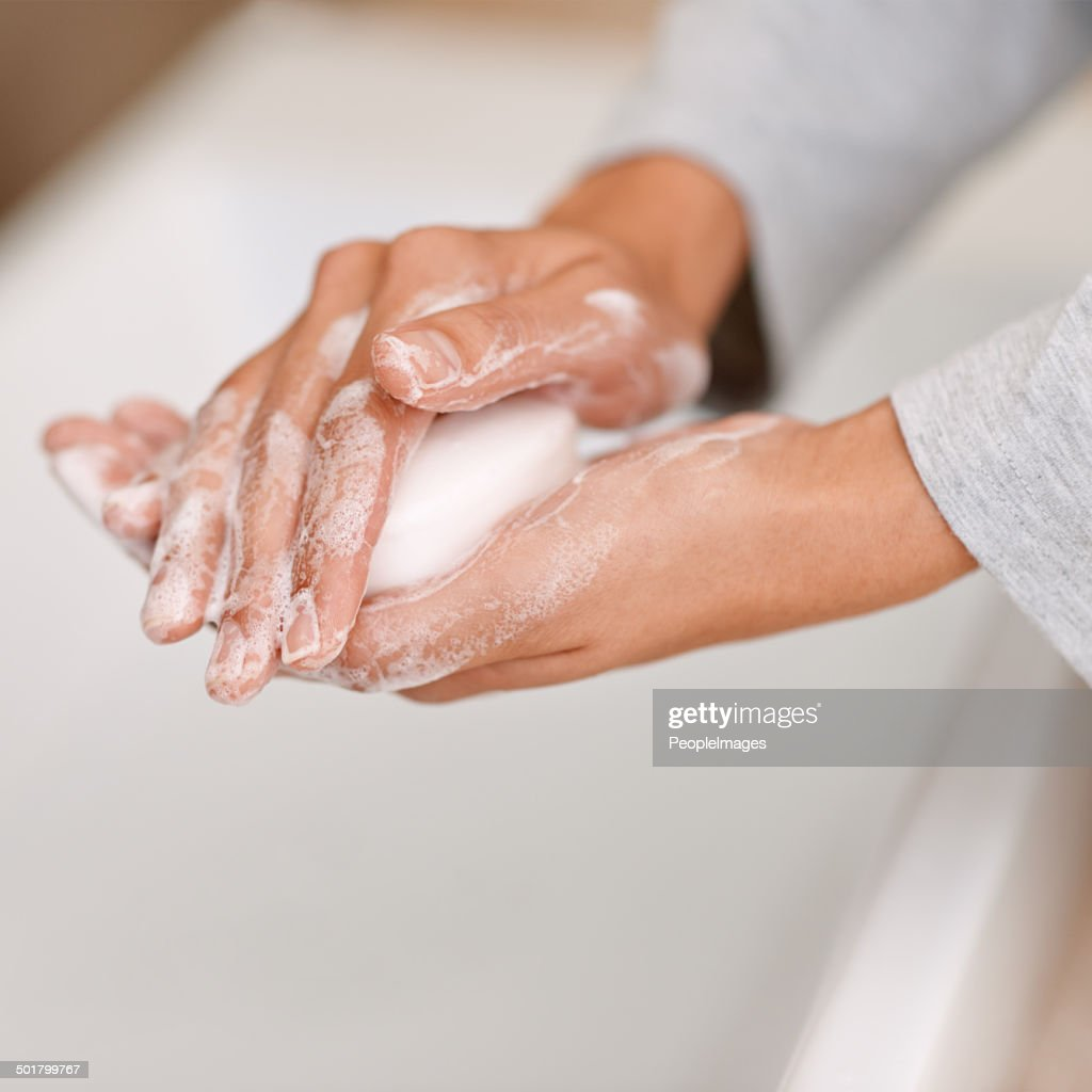 She's all about personal hygiene : Stock Photo