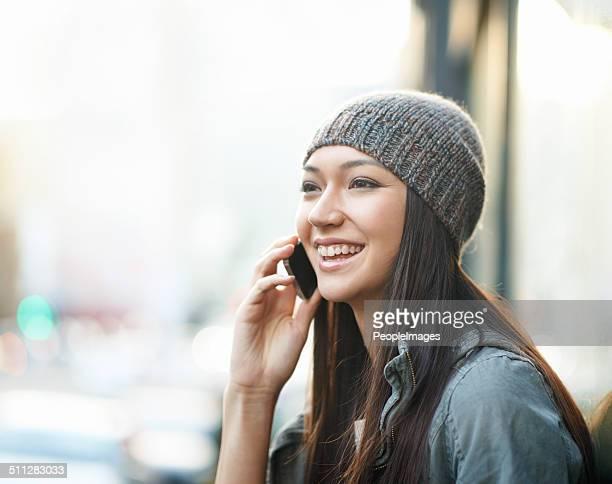She's always happy when he calls