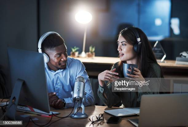 she's always up for a good debate - interview stock pictures, royalty-free photos & images