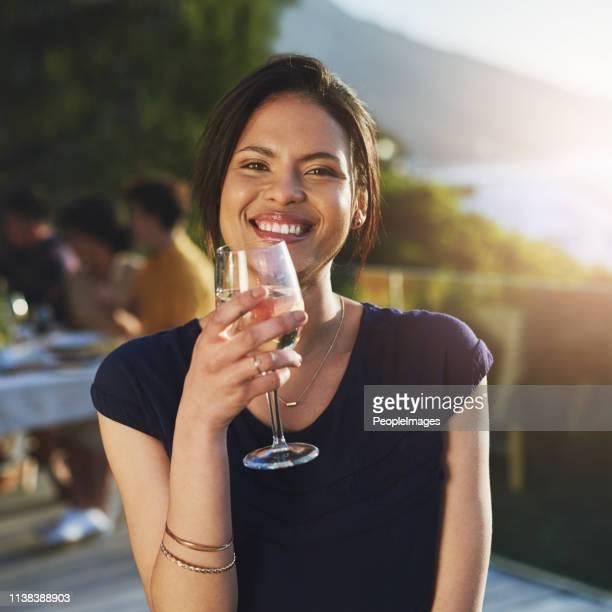 She's as fine as the crisp wine she drinks