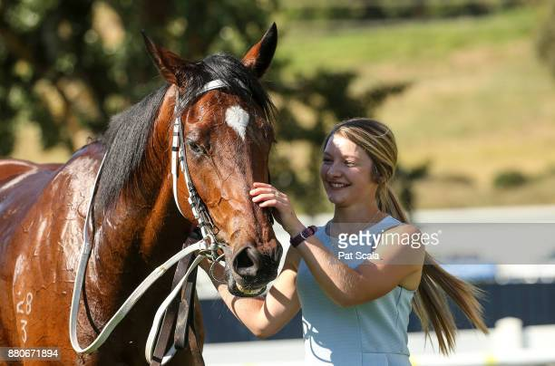 She's Beneficial after winning Hygain Winnerâs Choice BM58 Handicap at SportsbetBallarat Racecourse on November 28 2017 in Ballarat Australia