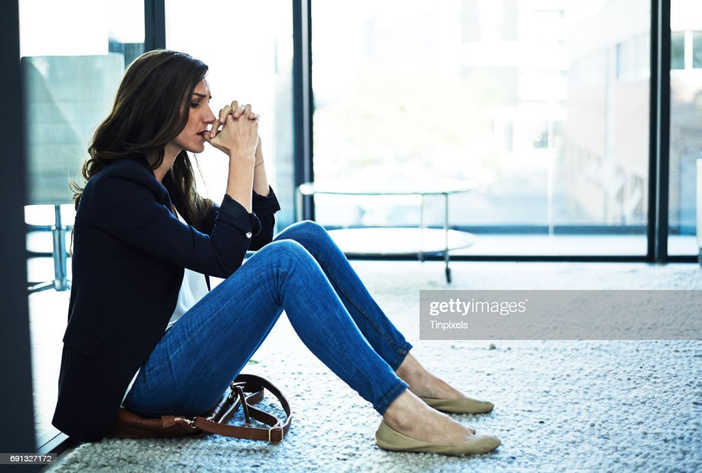 She's cracking under the pressure : Stock Photo