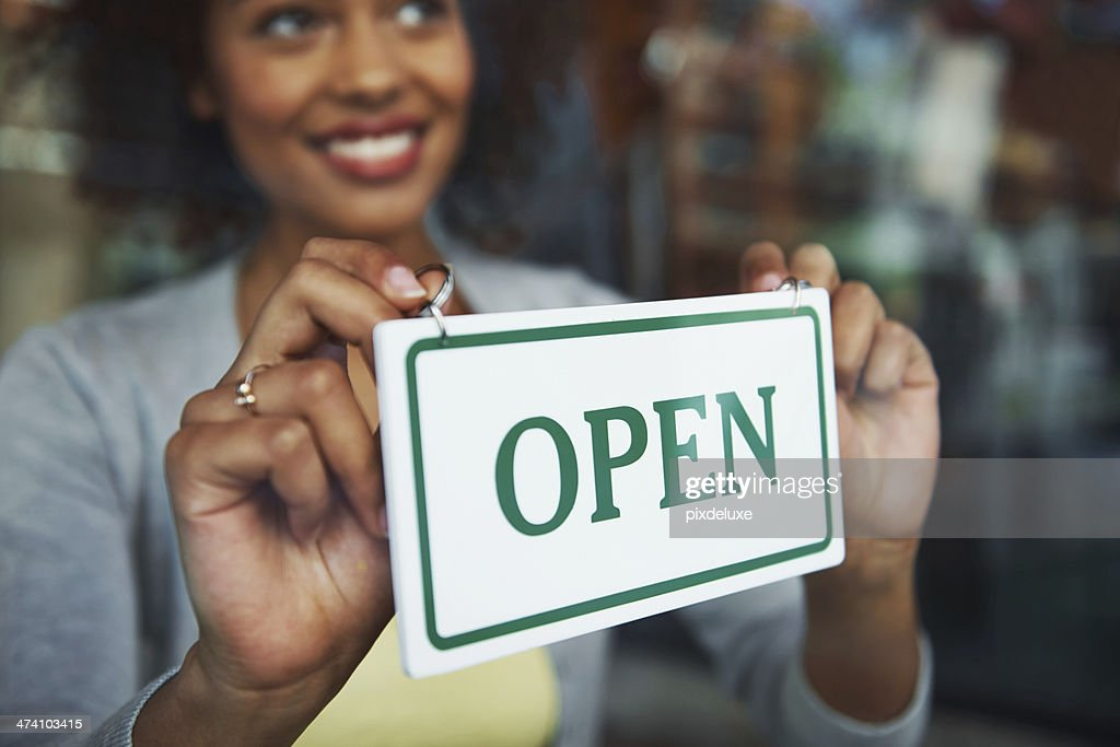 She's excited to see how the first day goes : Stock Photo