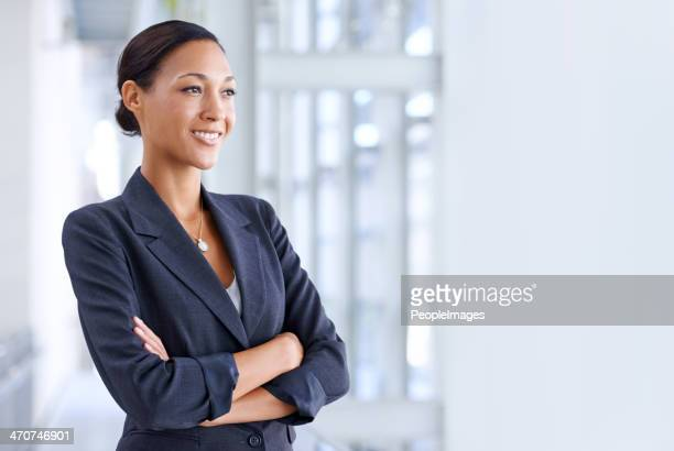 she's focused on her business goals - looking away stock pictures, royalty-free photos & images