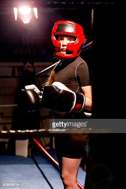 She's found her place in the boxing ring