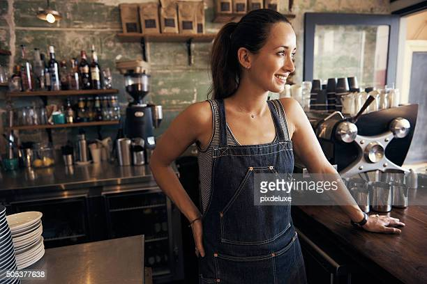 She's found the secret to coffee shop success