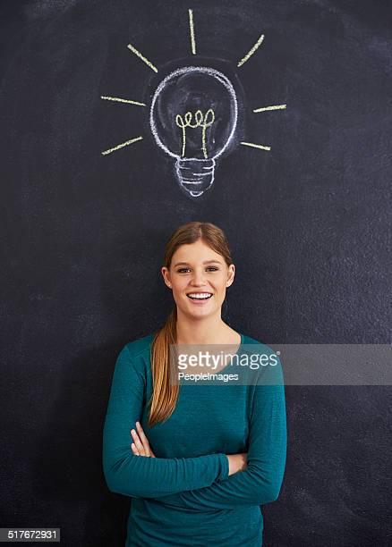 She's full of ideas