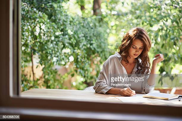 she's going to become a famous writer - authors stock photos and pictures