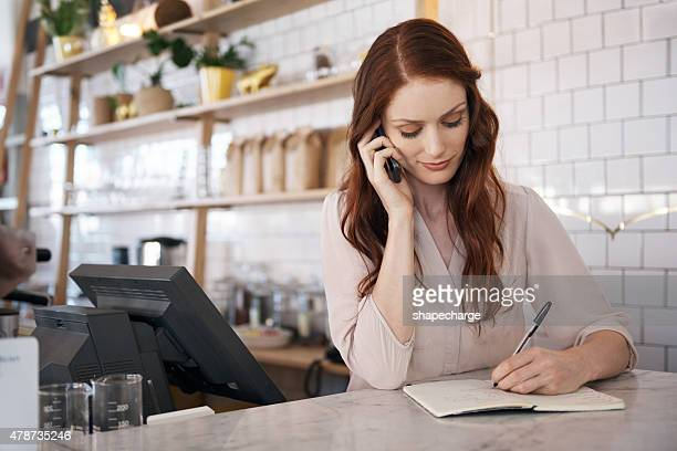 She's got a great business plan in place for her cafe