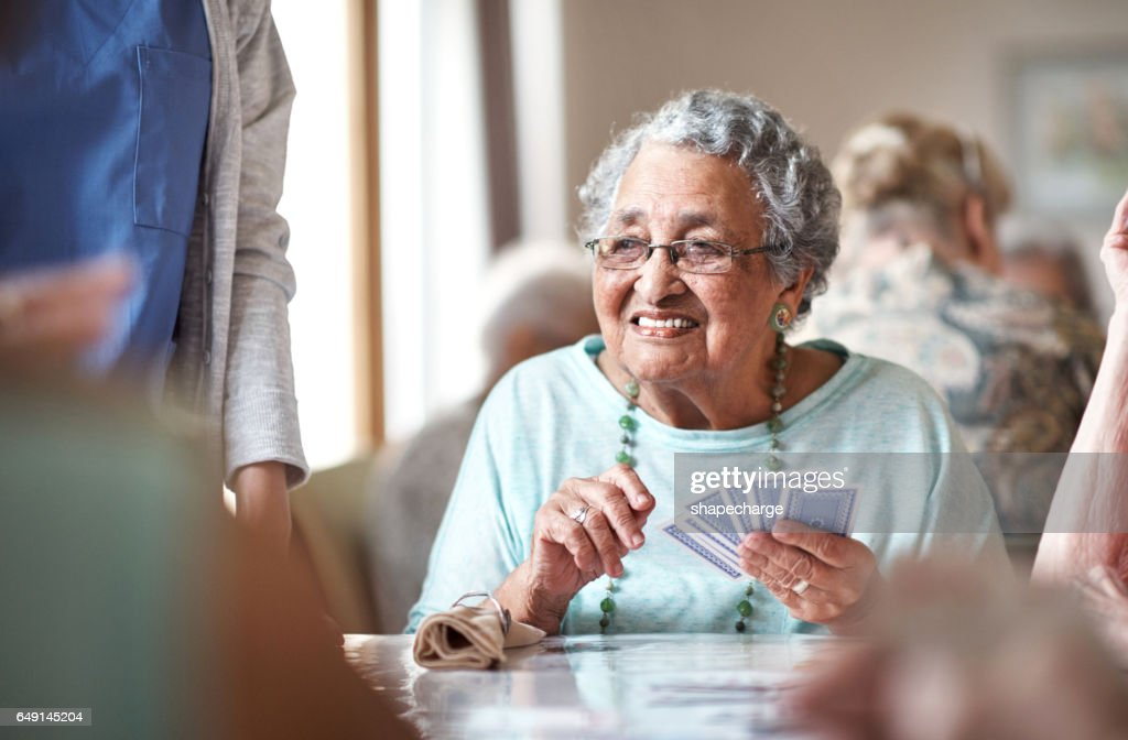 She's got a great hand and she knows it : Stock Photo