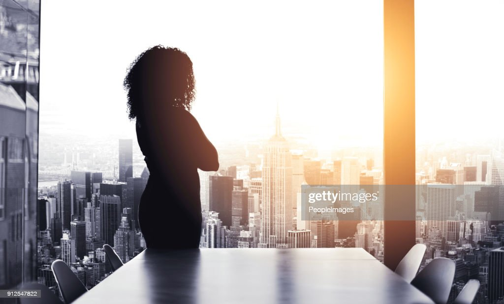 She's got big plans to run the city : Stock Photo