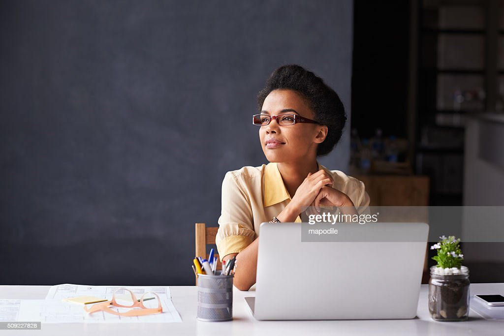 She's got her sights set on success : Stock Photo