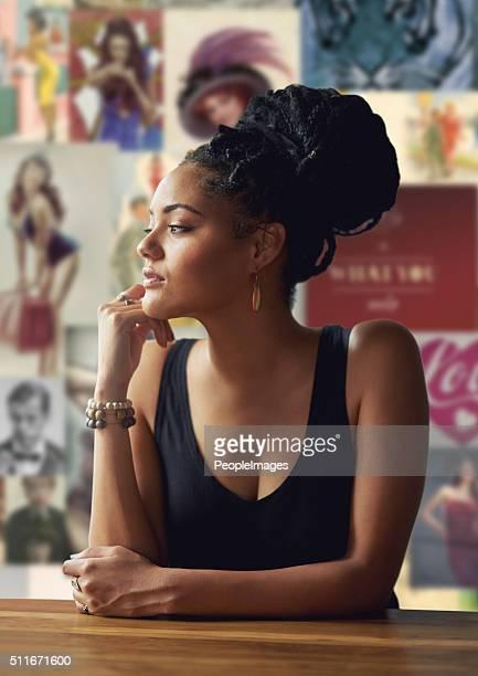 She's got something on her mind