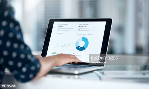she's got the financial forecast right at her fingertips - computer monitor stock pictures, royalty-free photos & images