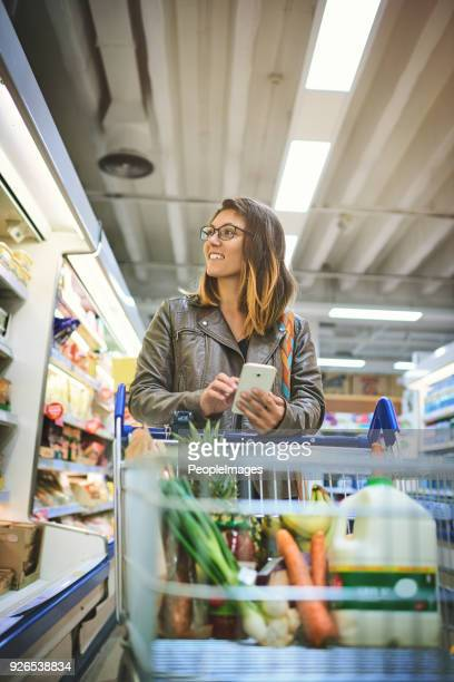 She's got the ultimate shopping list on her phone