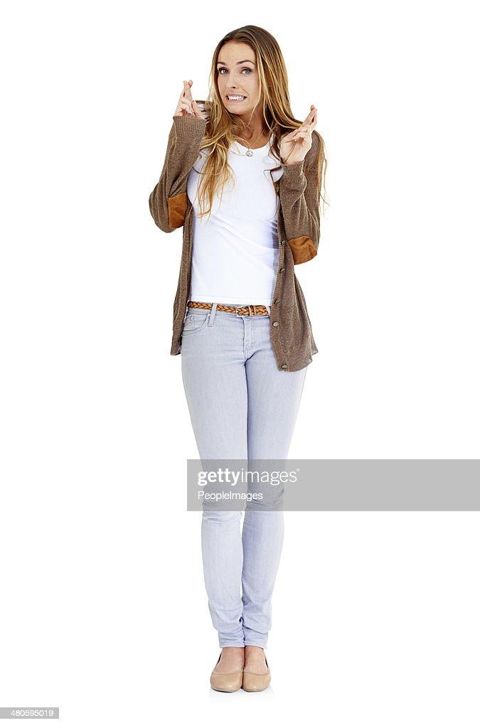She's hopeful : Stock Photo