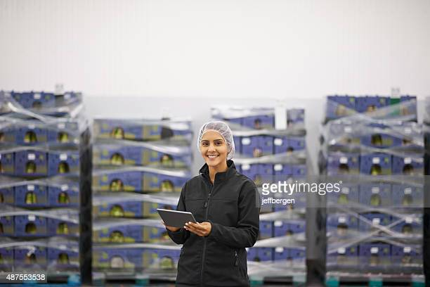 She's  in charge of stock control
