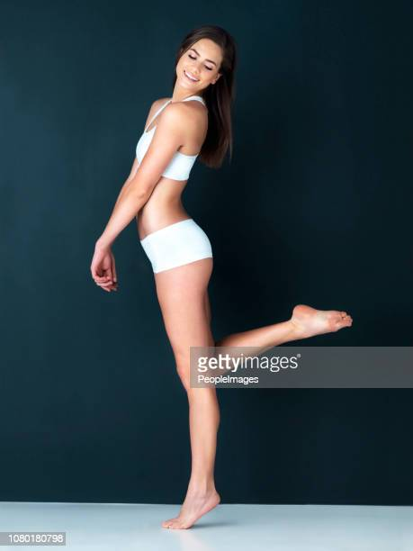 she's in great shape - beautiful long legs stock pictures, royalty-free photos & images