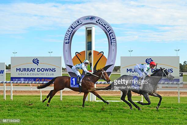 She's Just Lika ridden by Jarrod Fry wins Vetta Spaghetti BM58 Handicap at Swan Hill Racecourse on August 08 2016 in Swan Hill Australia