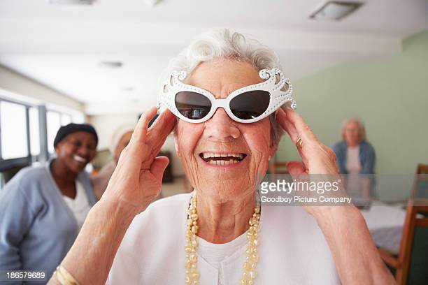 she's keeping it old school - old lady funny stock pictures, royalty-free photos & images