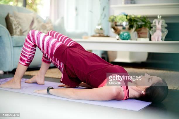 She's mastered the art of pilates